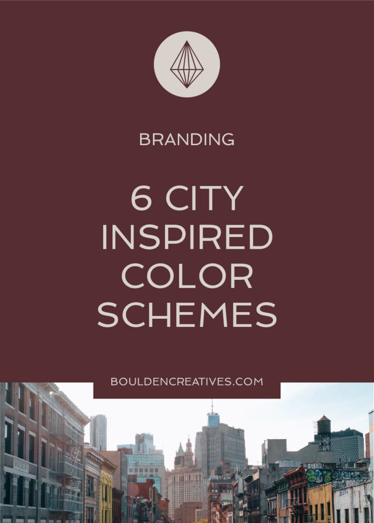 City photographs inspire color schemes for use in design and branding projects. 6 schemes for personal and commercial use. | BouldenCreatives.com