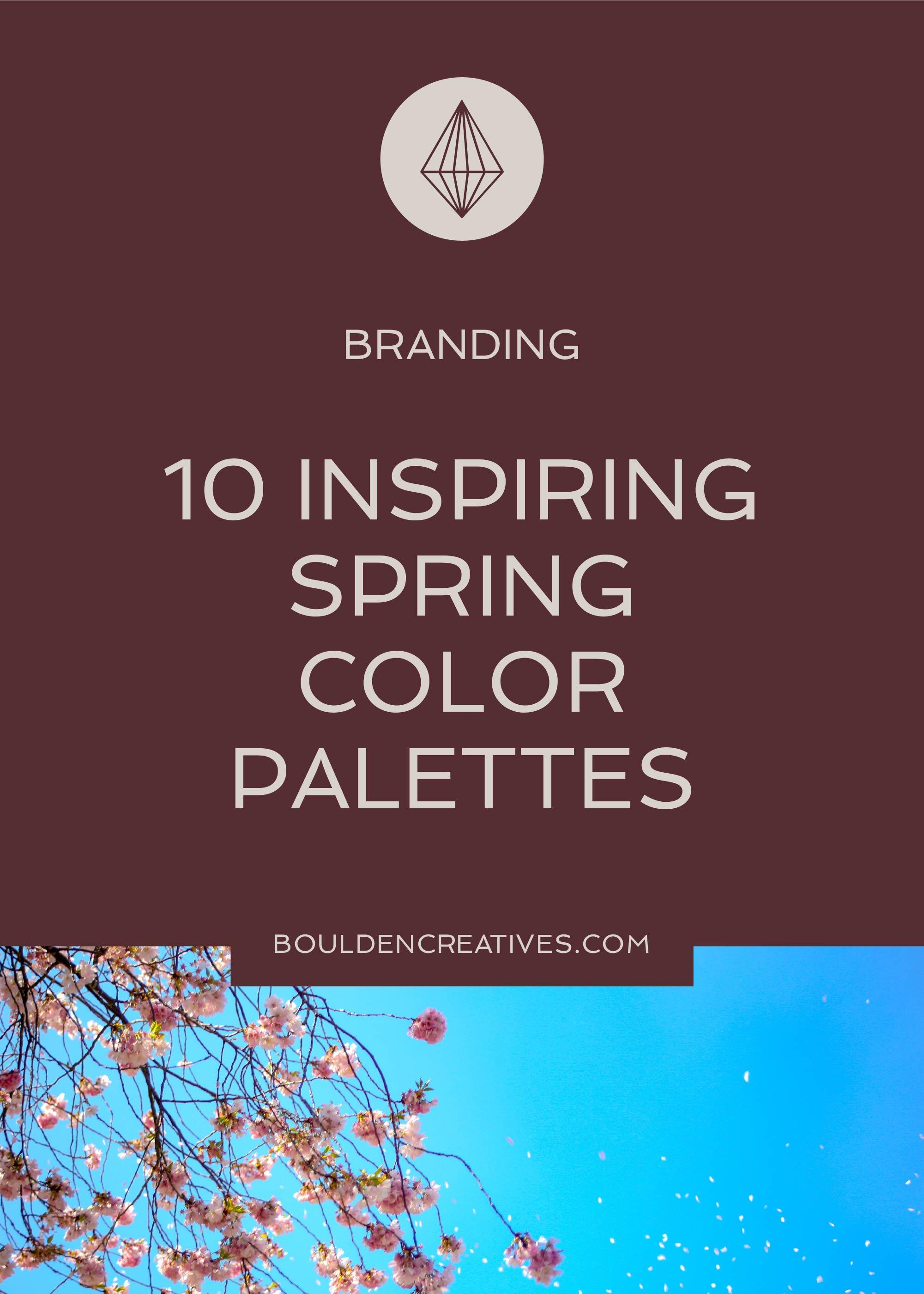10 Inspiring Spring Color Palettes
